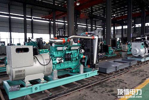 柴油发电机组仓库展示