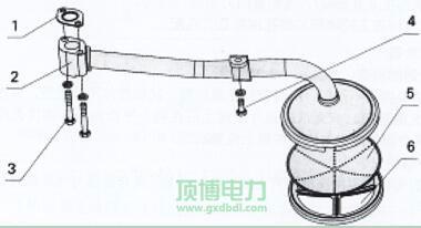 玉柴YC4108机油集波器总成