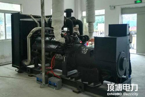 柴油发电机消声器安装