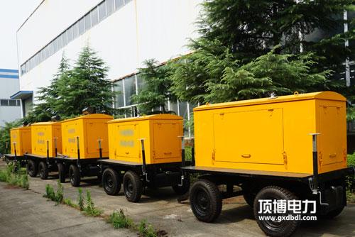 顶博电力移动拖车柴油发电机组装载中