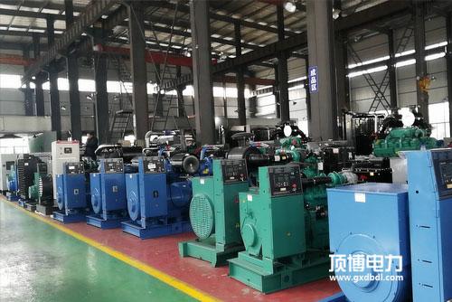 顶博电力柴油发电机组生产车间