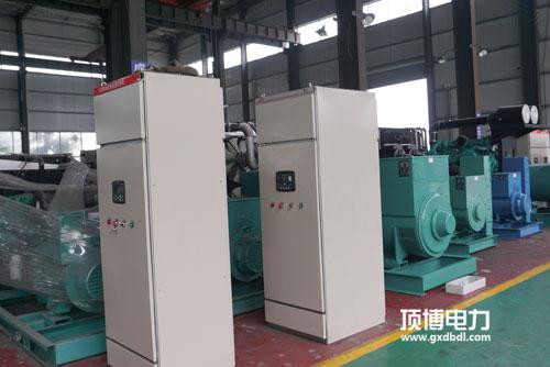 顶博电力450KW柴油发电机组生产车间