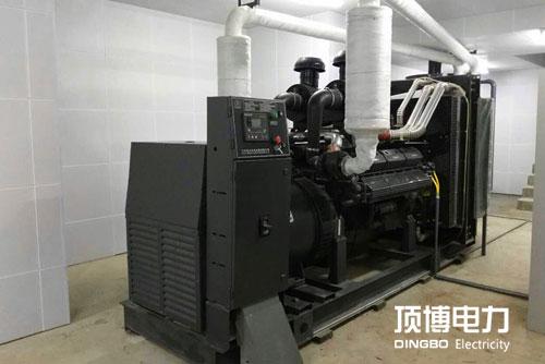顶博电力600KW上柴发电机组机房展示