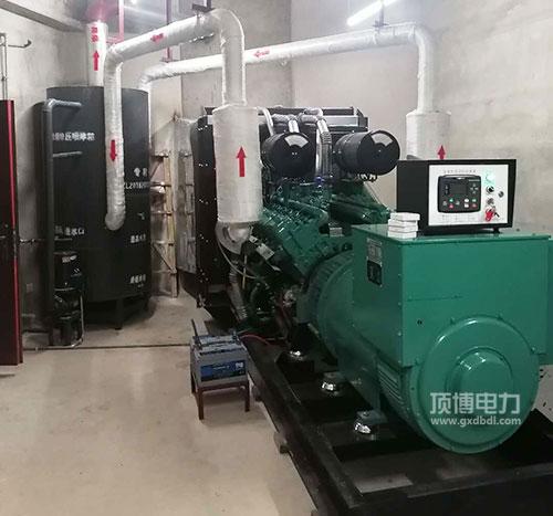 广西某房地产公司600KW柴油发电机组机房