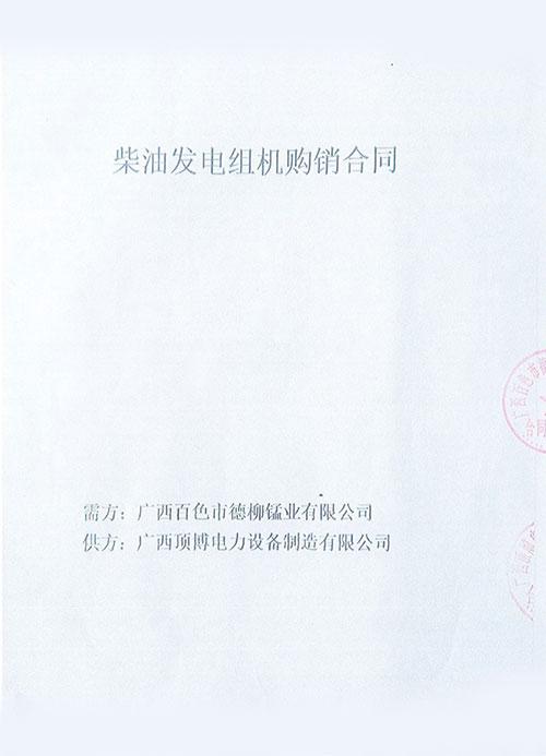 广西百色讪德柳锰业有限公司购买200KW上柴发电机组